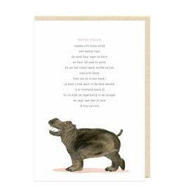Eva&Lies Wenskaart - Noortje Nijlpaard