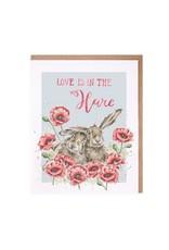 Wrendale Wenskaart - Love is in the Hare