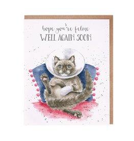 Wrendale Wenskaart - Feline Well Soon