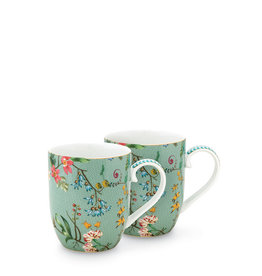 Pip Studio Jolie - Set 2 tassen Flowers - Small 145ml