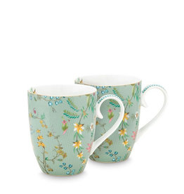 Pip Studio Jolie - Set 2 tassen Flowers - Large 350ml