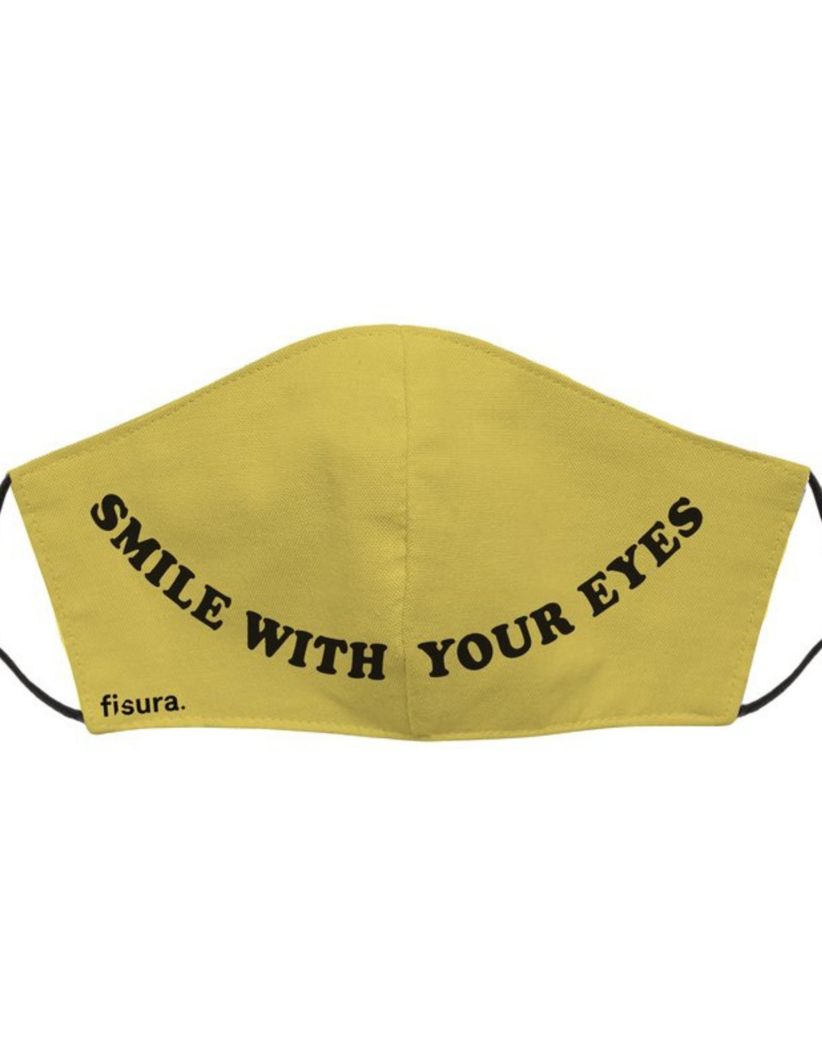 Fisura Mondmasker - Smile with your Eyes - Mosterdgeel