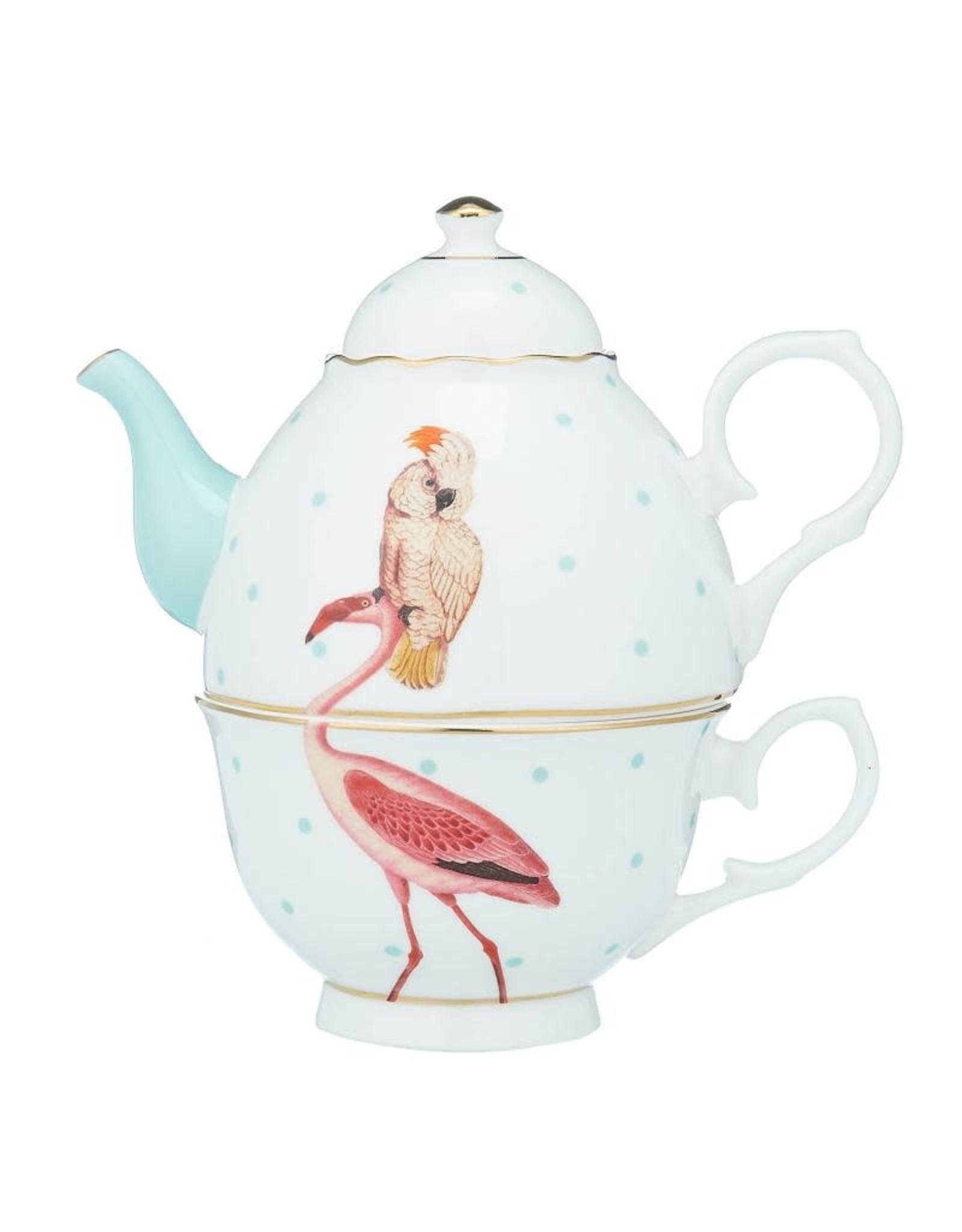 Yvonne Ellen Animals - Tea For One - Flamingo & Parrot
