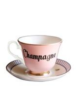 Yvonne Ellen British - Champagne Teacup & Saucer