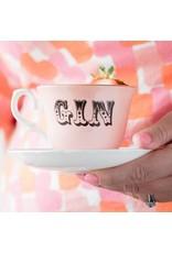 Yvonne Ellen British - Gin Teacup & Saucer
