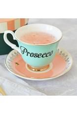 Yvonne Ellen British - Prosecco Teacup & Saucer