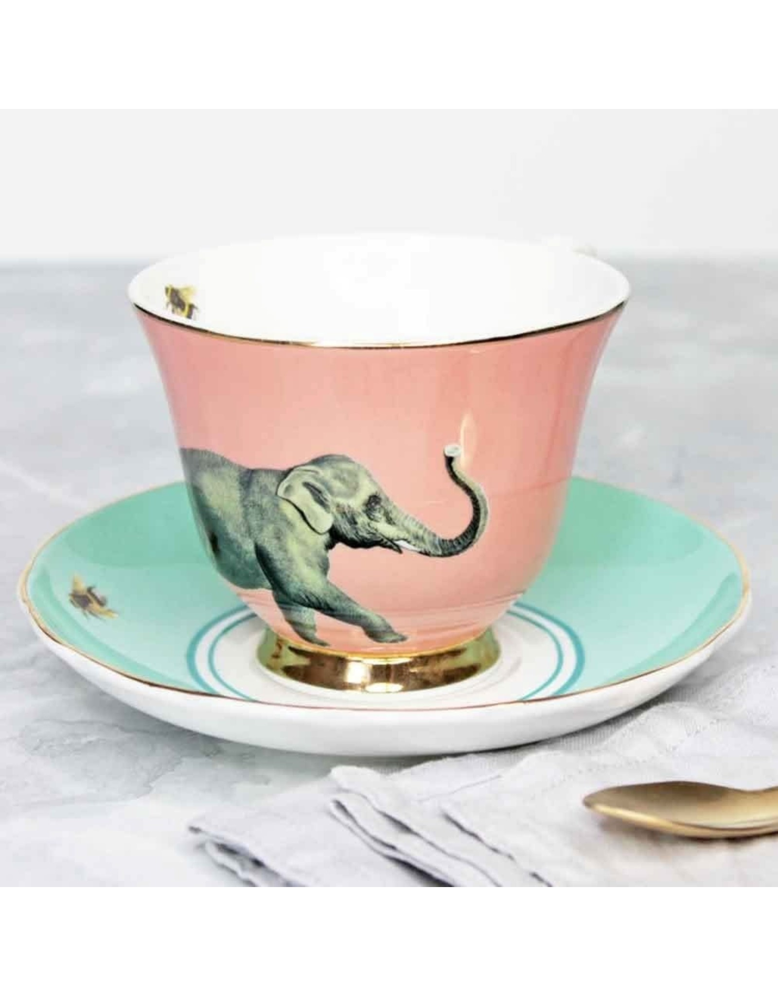 Yvonne Ellen Animals - Elephant Teacup & Saucer