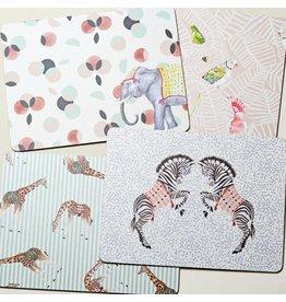 Yvonne Ellen Animals - Safari Placemats Set/4