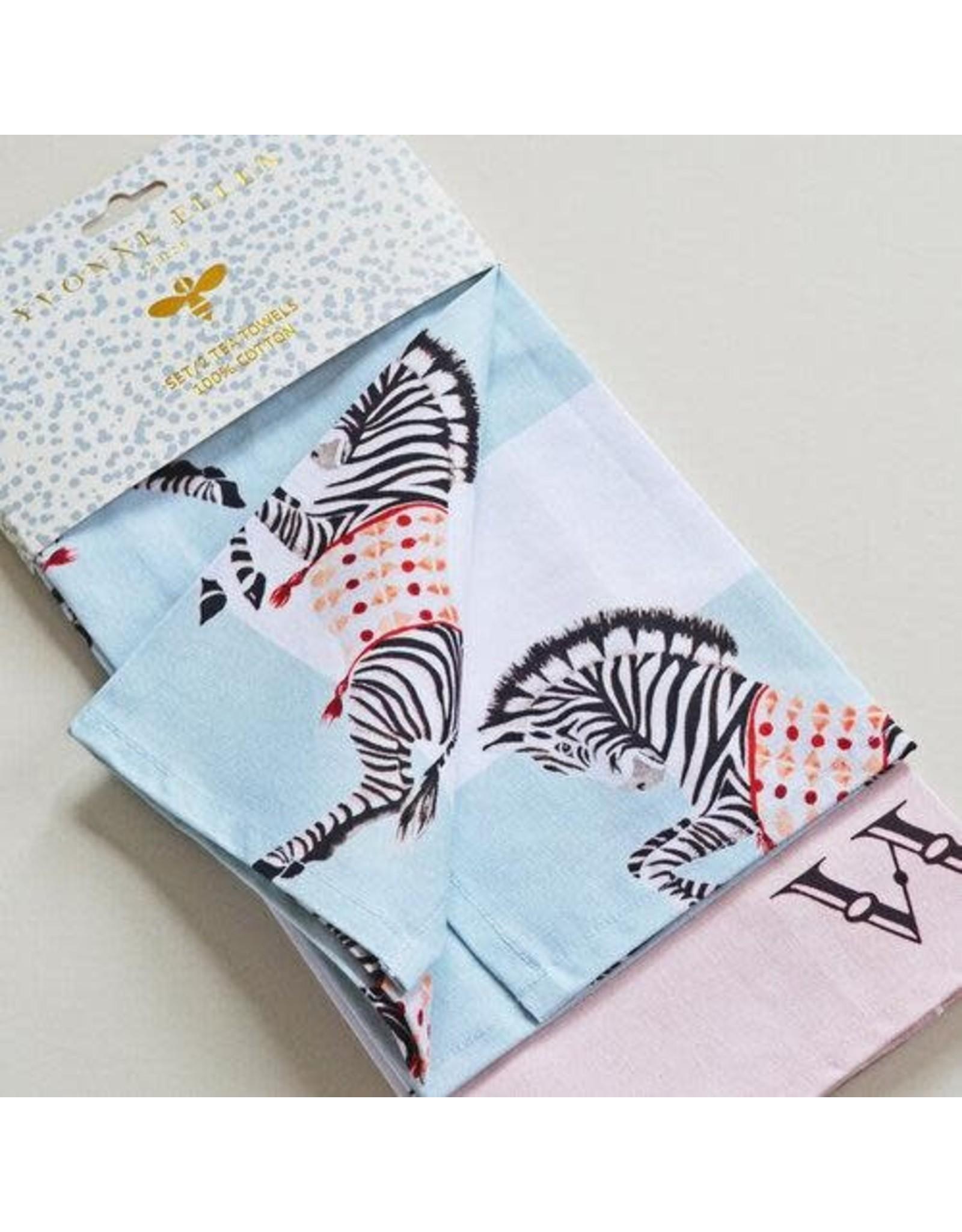 Yvonne Ellen Animals - Tea Towels Elephant & Zebra