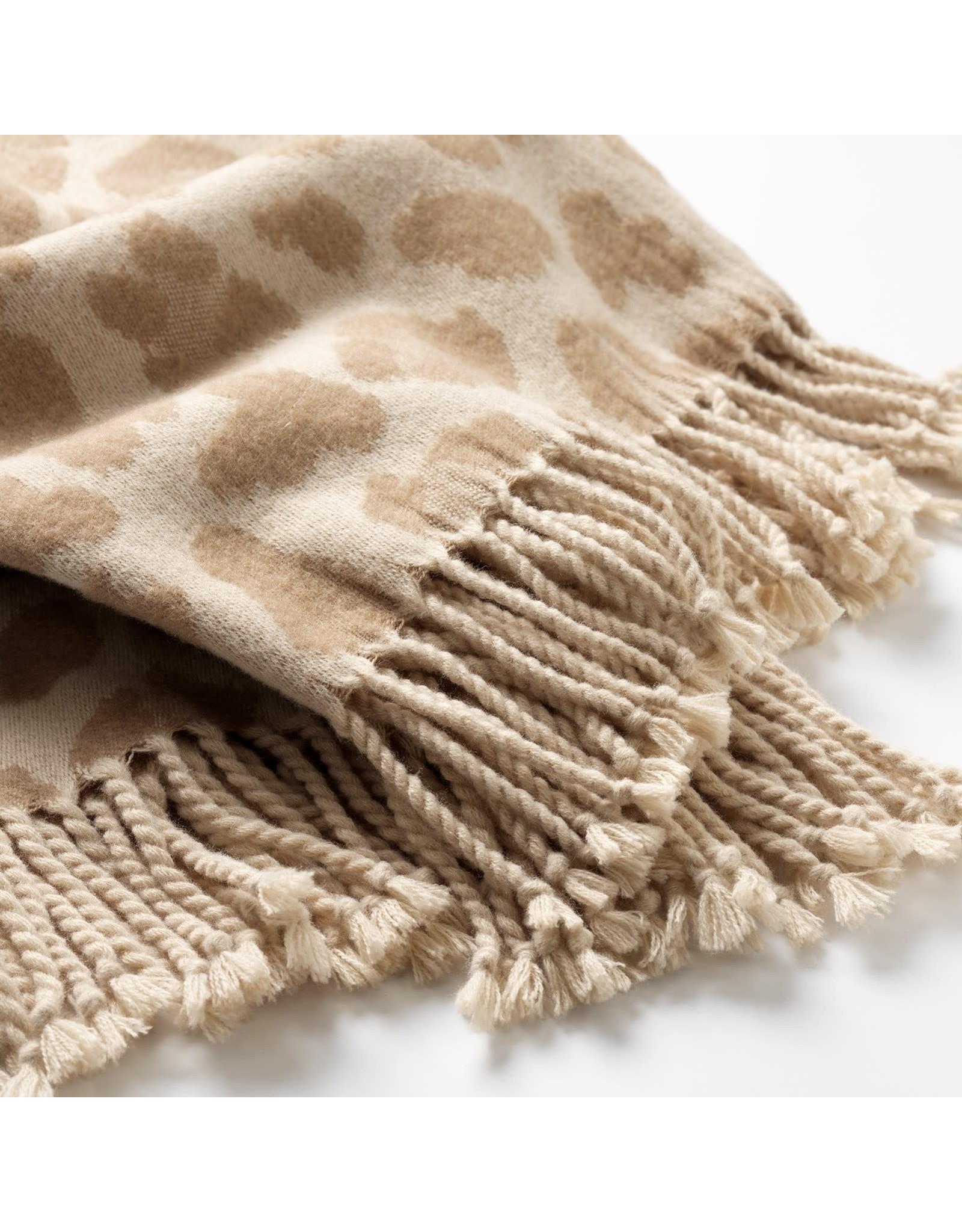 Dutch Decor Plaid - Jolie Leopard Beige