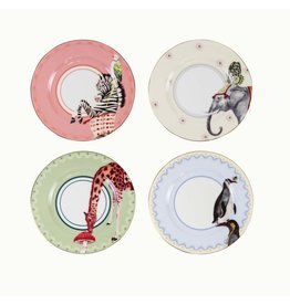 Yvonne Ellen Animals - Carnival Mix - Set/4 Cake Plate 16cm