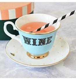 Yvonne Ellen British - Wine Teacup & Saucer