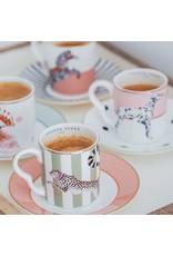 Yvonne Ellen Animals - Espresso Set - Cheetah/Parrot