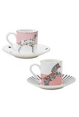 Yvonne Ellen Animals - Espresso Set - Dog/Zebra