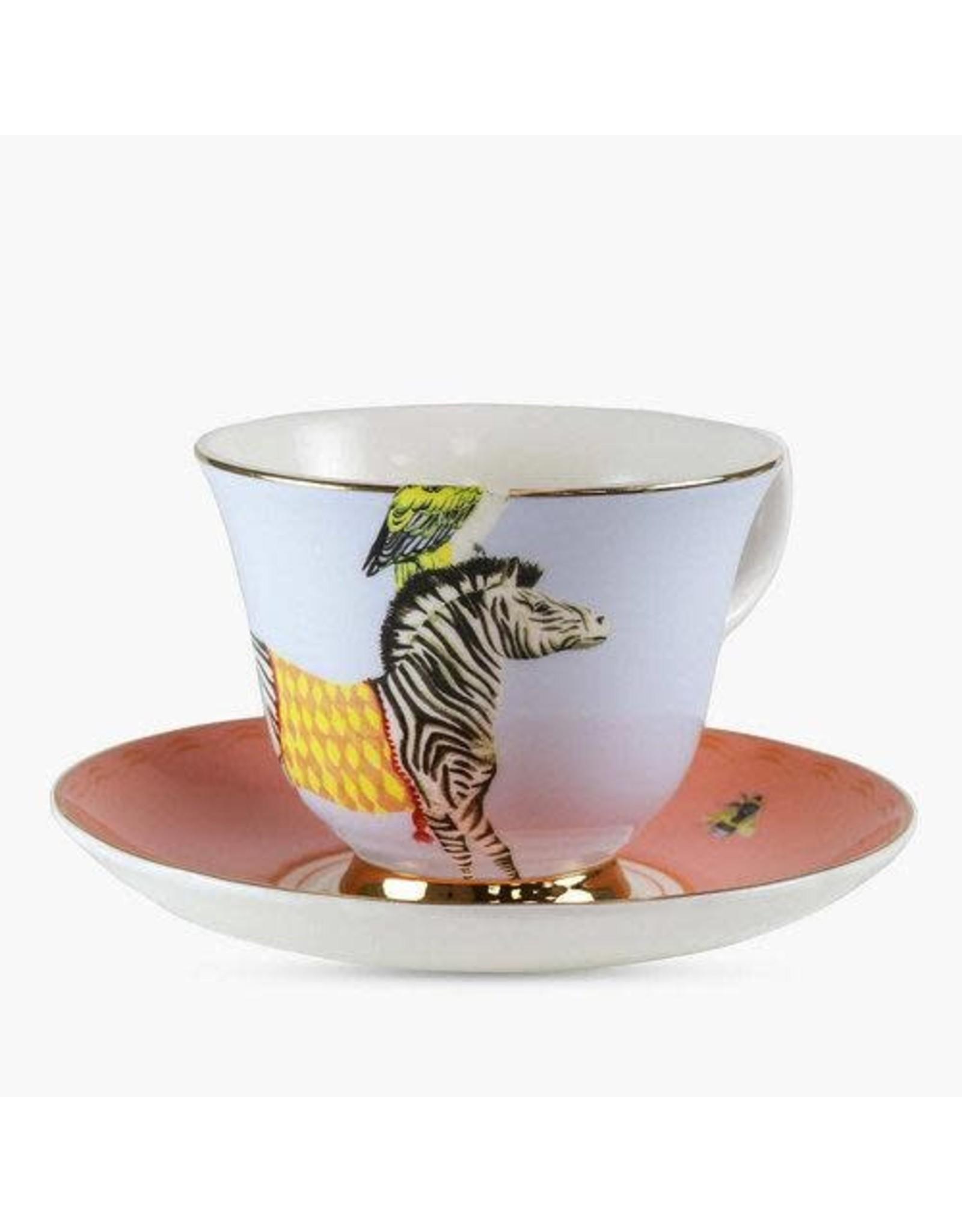 Yvonne Ellen Animals - Carnival Zebra Teacup & Saucer