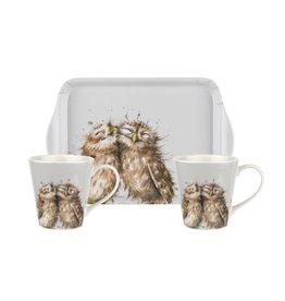 Wrendale Set Mokken & Tray - Owls