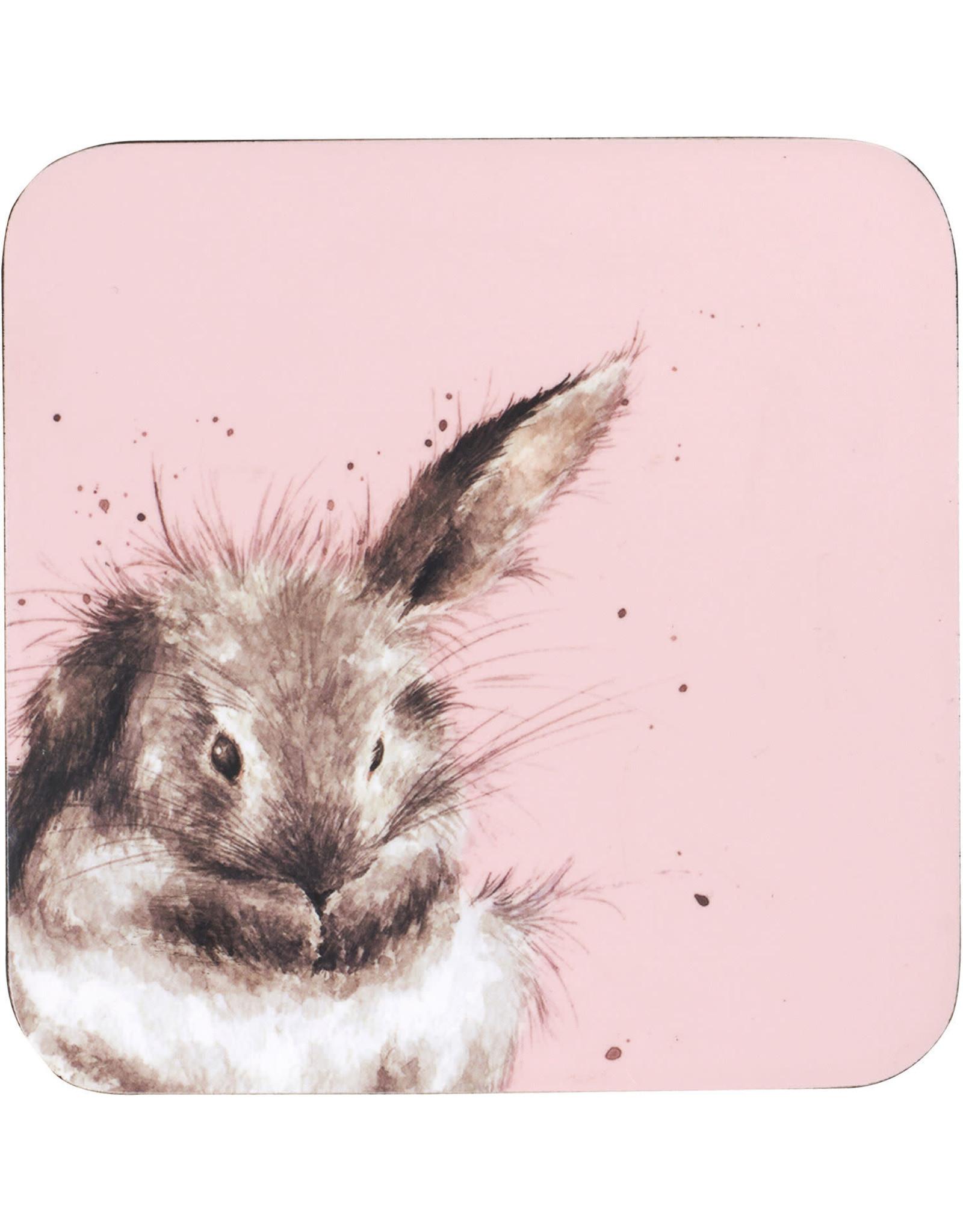 Wrendale Onderleggers set van 6 - Rabbit
