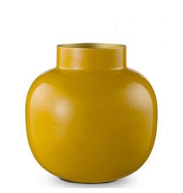 Pip Studio Vaas - Metaal Rond Mustard 25cm