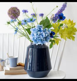 Pip Studio Vaas - Metaal Blauw 29cm