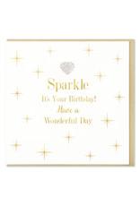 Hearts Design Wenskaart - Sparkle, it's your birthday