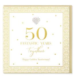 Hearts Design Wenskaart - 50 Fantastic Years Together