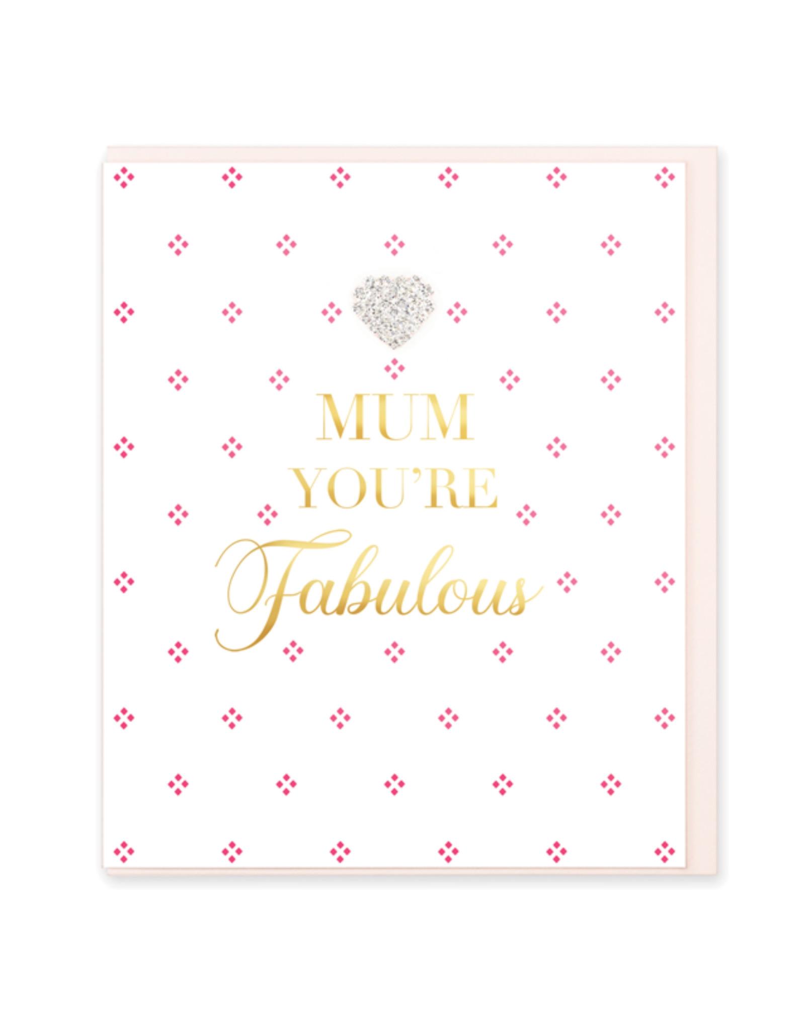 Hearts Design Wenskaart - Mum You're Fabulous