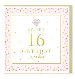 Hearts Design Wenskaart - Birthday 16