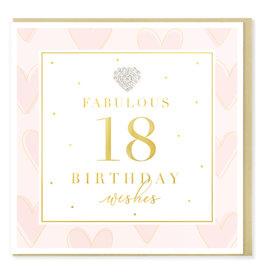 Hearts Design Wenskaart - Birthday 18