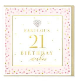 Hearts Design Wenskaart - Birthday 21