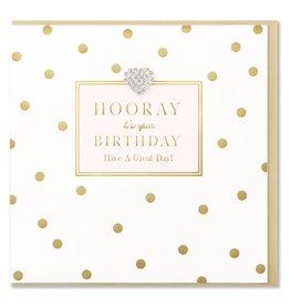 Hearts Design Wenskaart - Hooray! It's Your Birthday