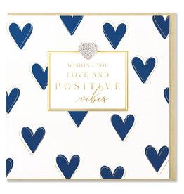 Hearts Design Wenskaart - Love & Positive Vibes