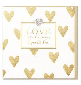 Hearts Design Wenskaart - Love to you Both