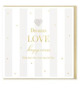 Hearts Design Wenskaart - Dreams, Love & Happiness