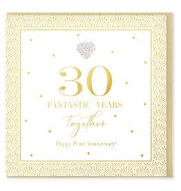 Hearts Design Wenskaart - 30 Fantastic Years Together