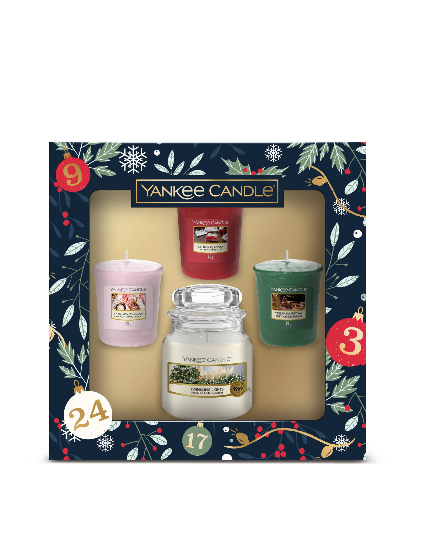 Yankee Candle Countdown to Christmas - Small Jar & Votives Giftset