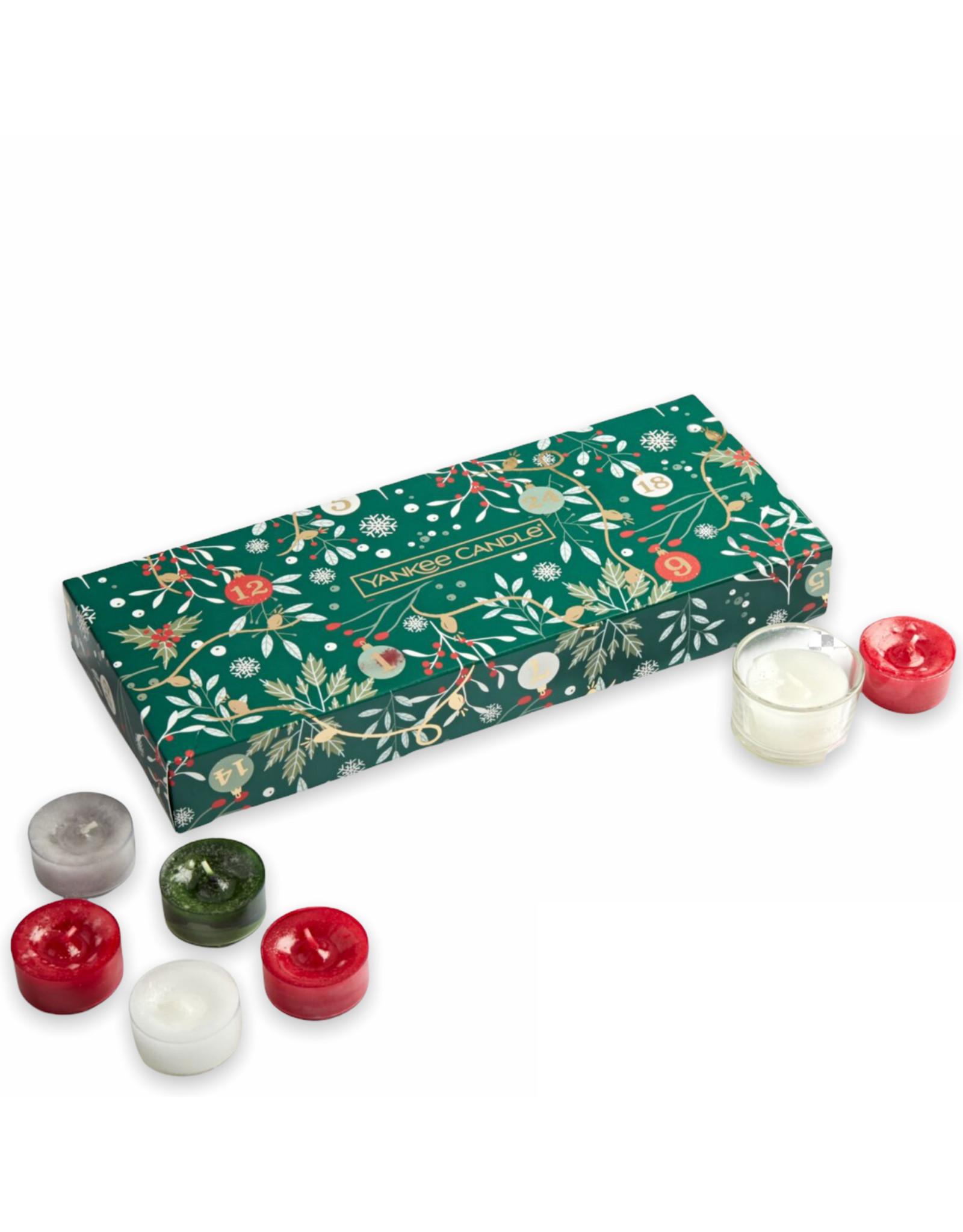 Yankee Candle Countdown to Christmas - 10 Tea Lights & Holder