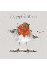 Wrendale Luxe Wenskaarten - Christmas Robin
