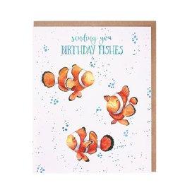 Wrendale Wenskaart - Birthday Fishes