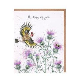Wrendale Wenskaart - The Thistle Finch