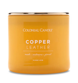 Colonial Candle Pop of Color - Copper Leather