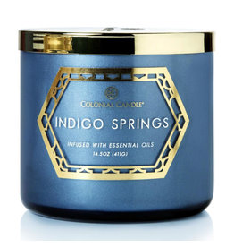 Colonial Candle Geo Luxe - Indigo Springs