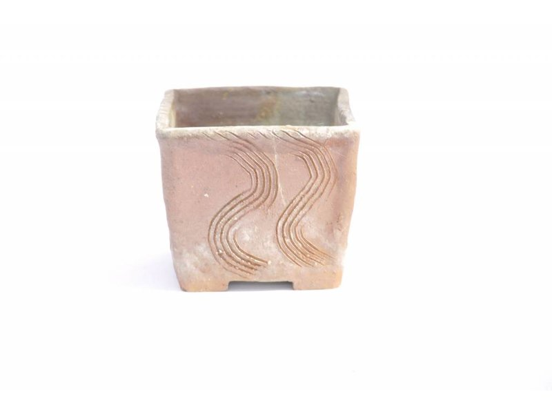 Vierkante Yamaaki-pot