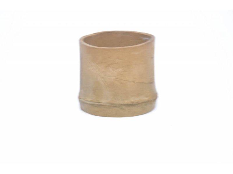 Ronde bamboepot