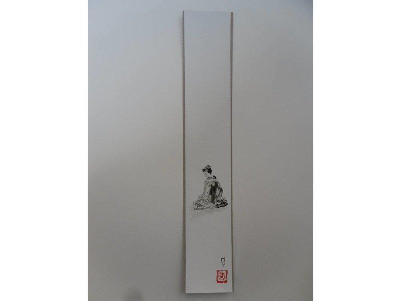 Geisha 1 Tanzaku 36x6 cm
