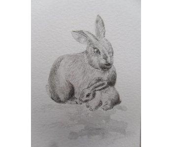 Rabbit 1  Tanzaku 36x6 cm