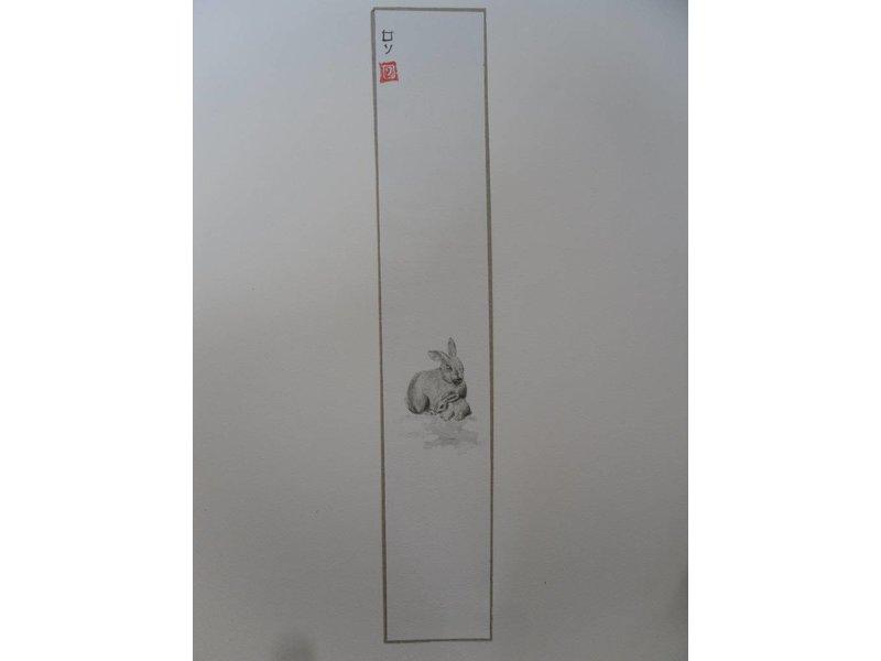 Konijn 1 Tanzaku 36x6 cm