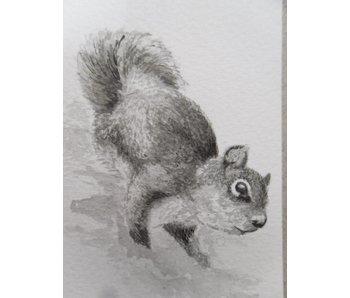 Squirrel 1  Tanzaku 36x6 cm
