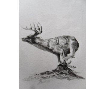 Running deer Tanzaku 36x6 cm