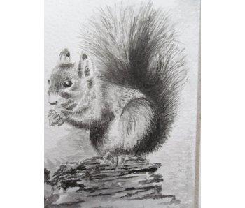 Eichhörnchen 2 Tanzaku 36x6 cm