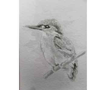 Kingfisher 1 Tanzaku 36x6 cm